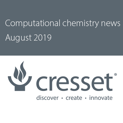 Computational chemistry news from Cresset, August 2019